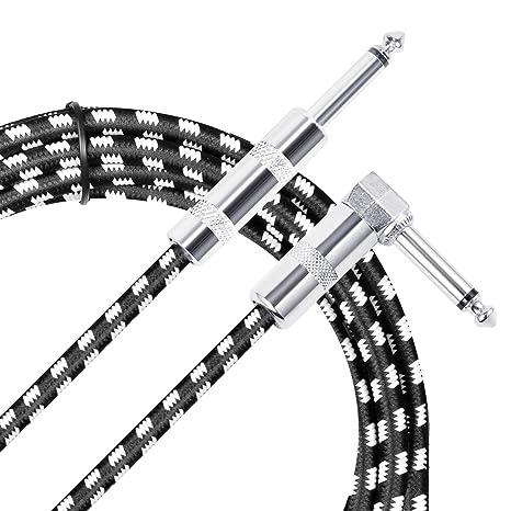 Neewer 10 pies/3 metros Premium Cable de cuerda de guitarra eléctrica bajo con derecho