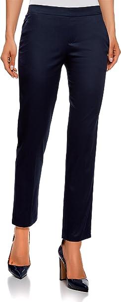 oodji Ultra Donna Pantaloni 7//8 con Cintura Elastica