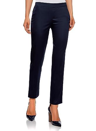 oodji Ultra Femme Pantalon 7 8 avec Ceinture Élastiquée  Amazon.fr ... 1e9da0113d6d