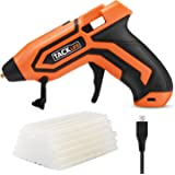 Tacklife PGG01B 3.6V Mini Cordless Glue Gun with 45 Pcs EVA Glue Sticks   2600mAh Li-ion Battery Powered Flexible Trigger Overheating Protection and Heating up Quickly with Temp and Battery Indicators