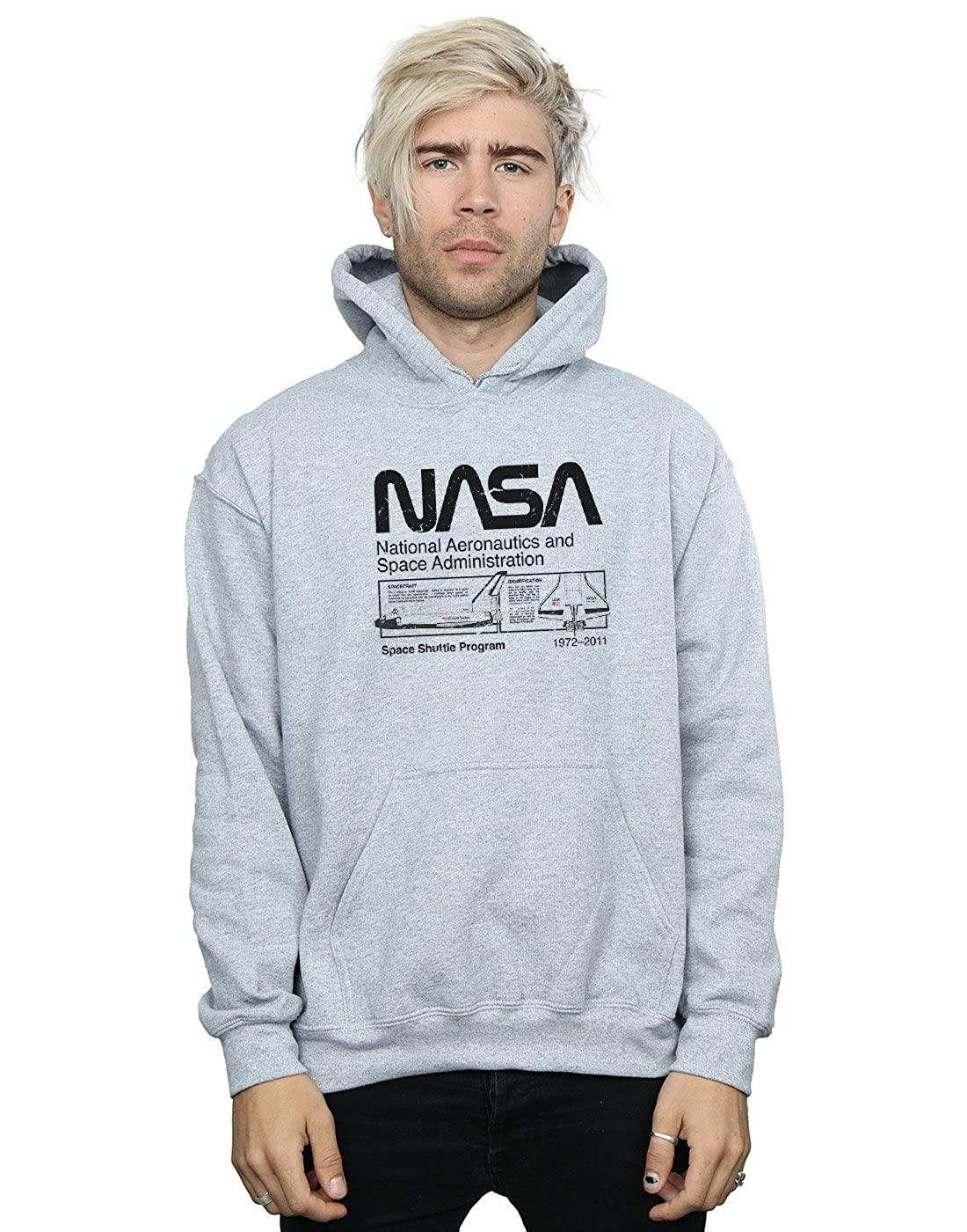 Absolute Cult NASA Herren Classic Space Shuttle Kapuzenpullover