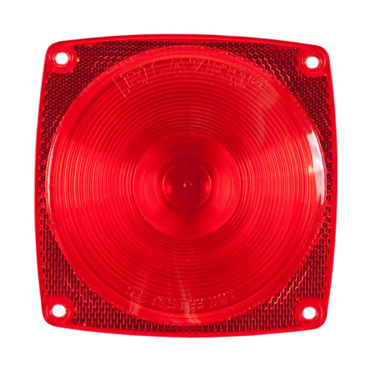 Blazer B983 Stop/Tail/Turn Light Replacement Lens - Square - Red by Blazer International Trailer & Towing Accessories (Image #1)