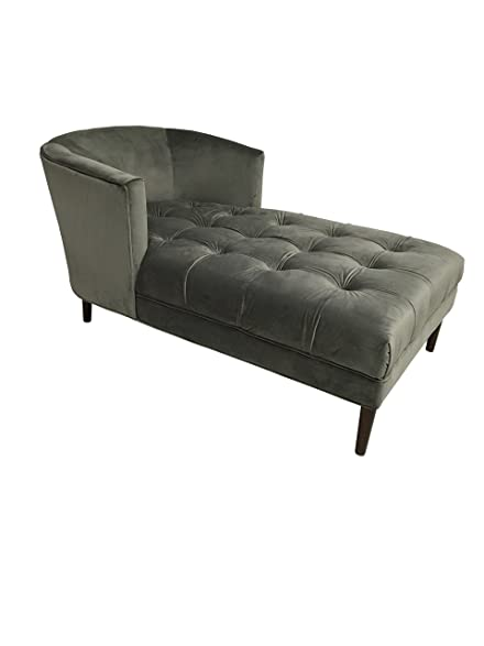 HD Couture HD99965 Hayden Chaise Lounge Grey Mistral Velvet