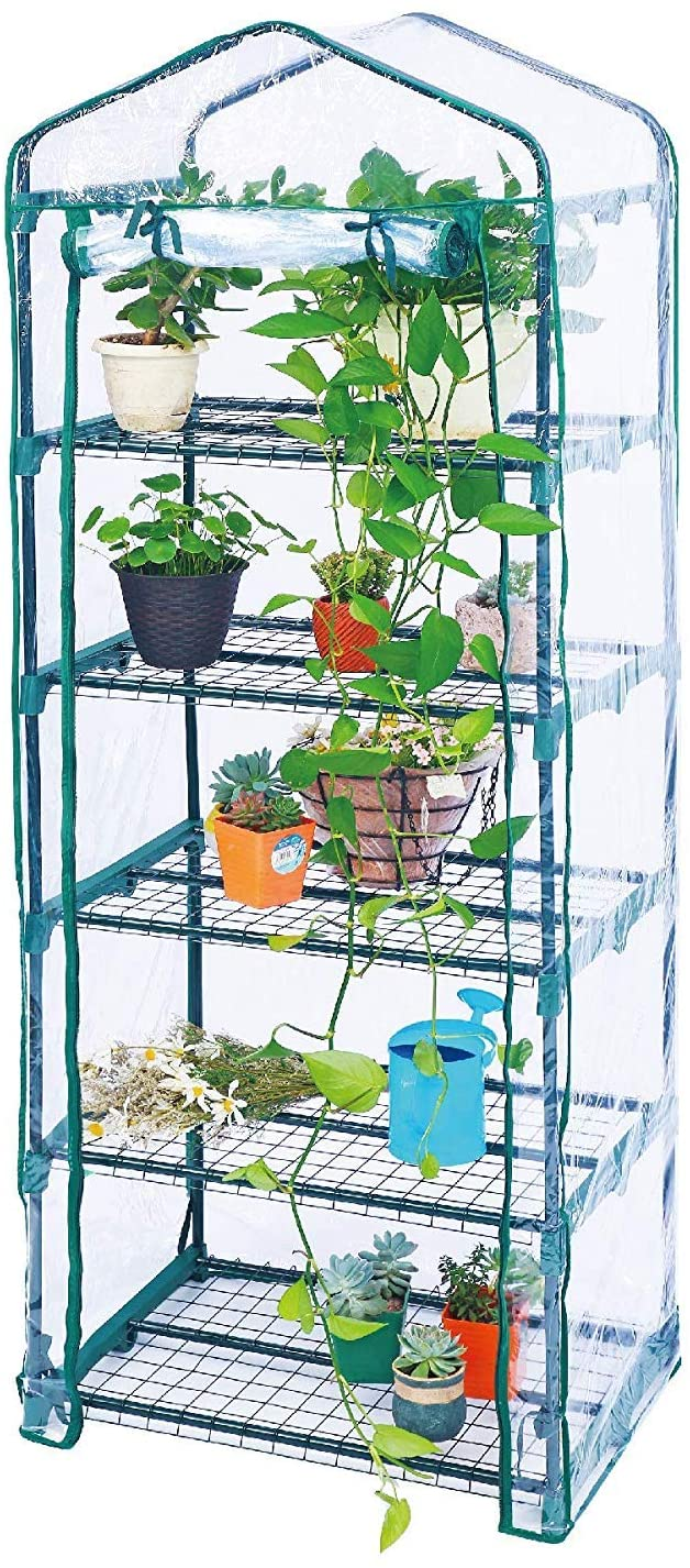 Worth Garden-5 Tier Greenhouses-Outdoor Indoor Greenhouse for Growing Plants in All Seasons