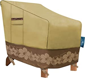 Tommy Bahama 29103 Adirondack Patio Chair Cover, Tan/Brown