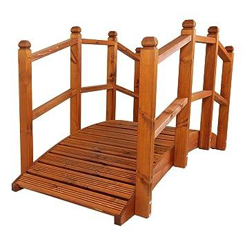 Litio de madera hecha a mano del puente de Oriental Garden (tamaño ...