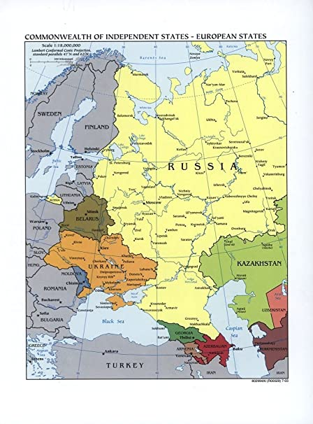 Amazon.com: 1918 Map of Large scale map of Russia in Europe ...