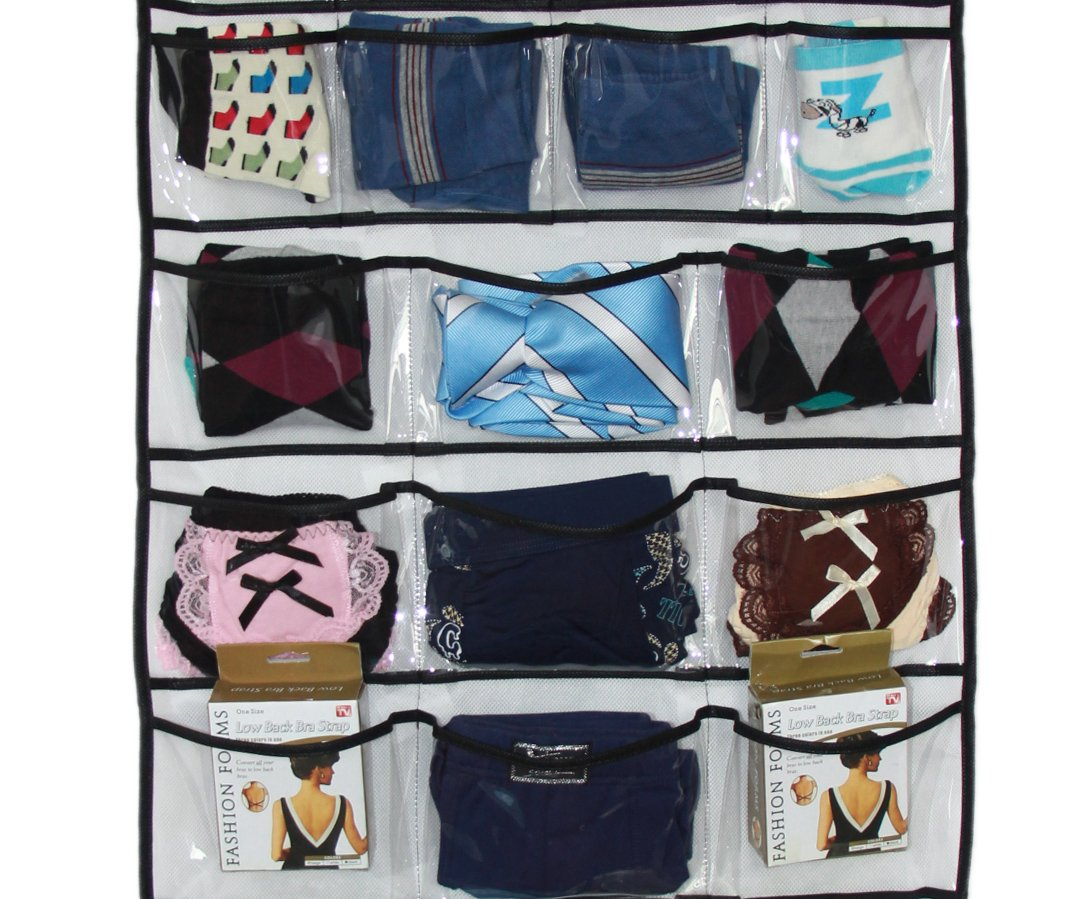 Misslo Hanging Closet Dual-Sided Organizers, 42 Pockets, 38.5 by 17.75-Inch by MISSLO (Image #4)