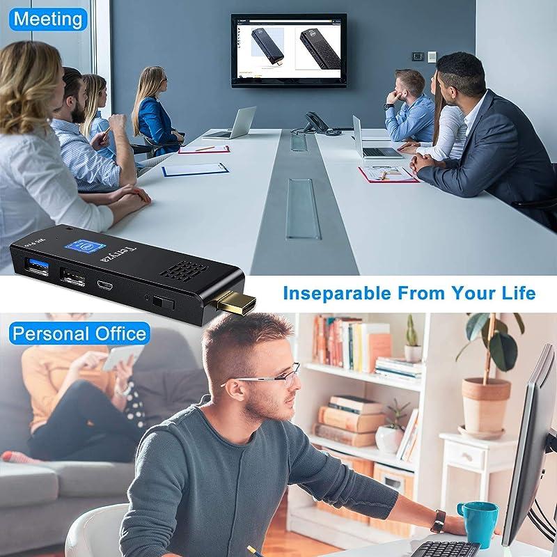 PC Stick Intel Atom Z8350 Windows 10 Pro Mini Computer 4GB DDR3 64GB eMMC Support 4K HD,2.4G/5G Dual Band WiFi AC,BT 4.2