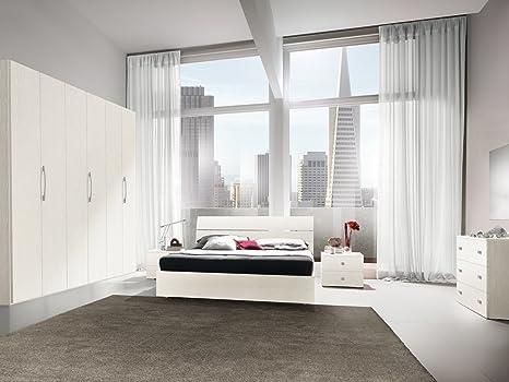Camera matrimoniale COMPLETA - letto con contenitore - Colore Bianco ...