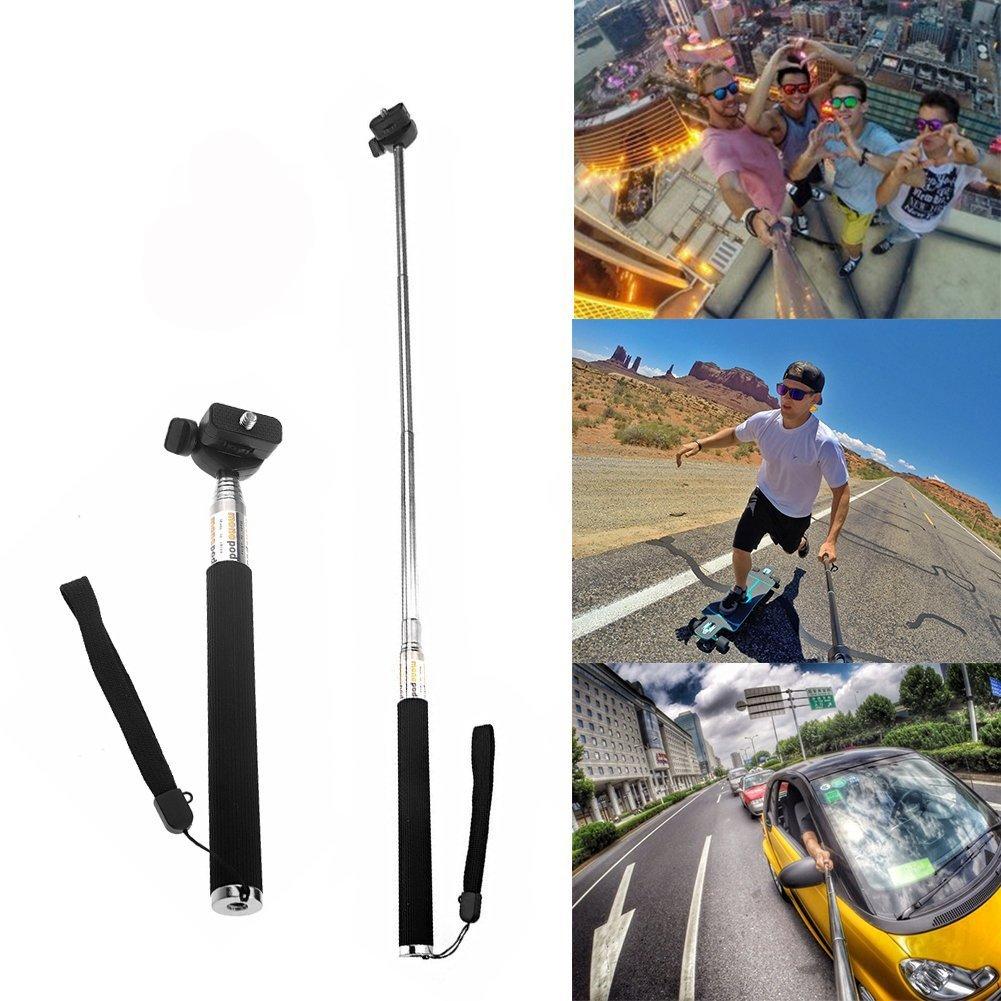Car Suction Cup Mount Telescoping Extendable Monopod Selfie Stick Neomark/® 8-in-1 Kit For Sony Action Cam HDR-AS15//AS20//AS30V//AS100//Sony Action Cam HDR-AZ1 Mini Cameras Car Sun Visor Mount