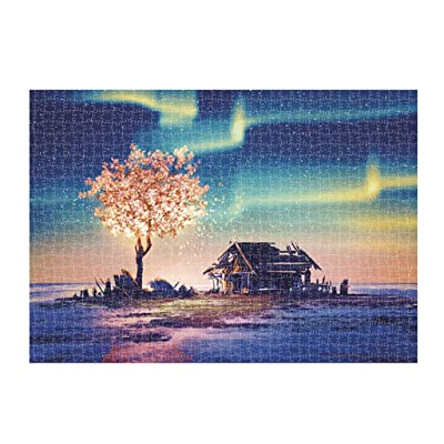 SportHome 1000 Piece Spring Scene Jigsaw Puzzle Game Interesting Toys - Hand Made Puzzles Personalized Gift Adults Landscape Game Interesting Puzzles Toys 16.53x11.69 Inch (1000 PC): Toys & Games