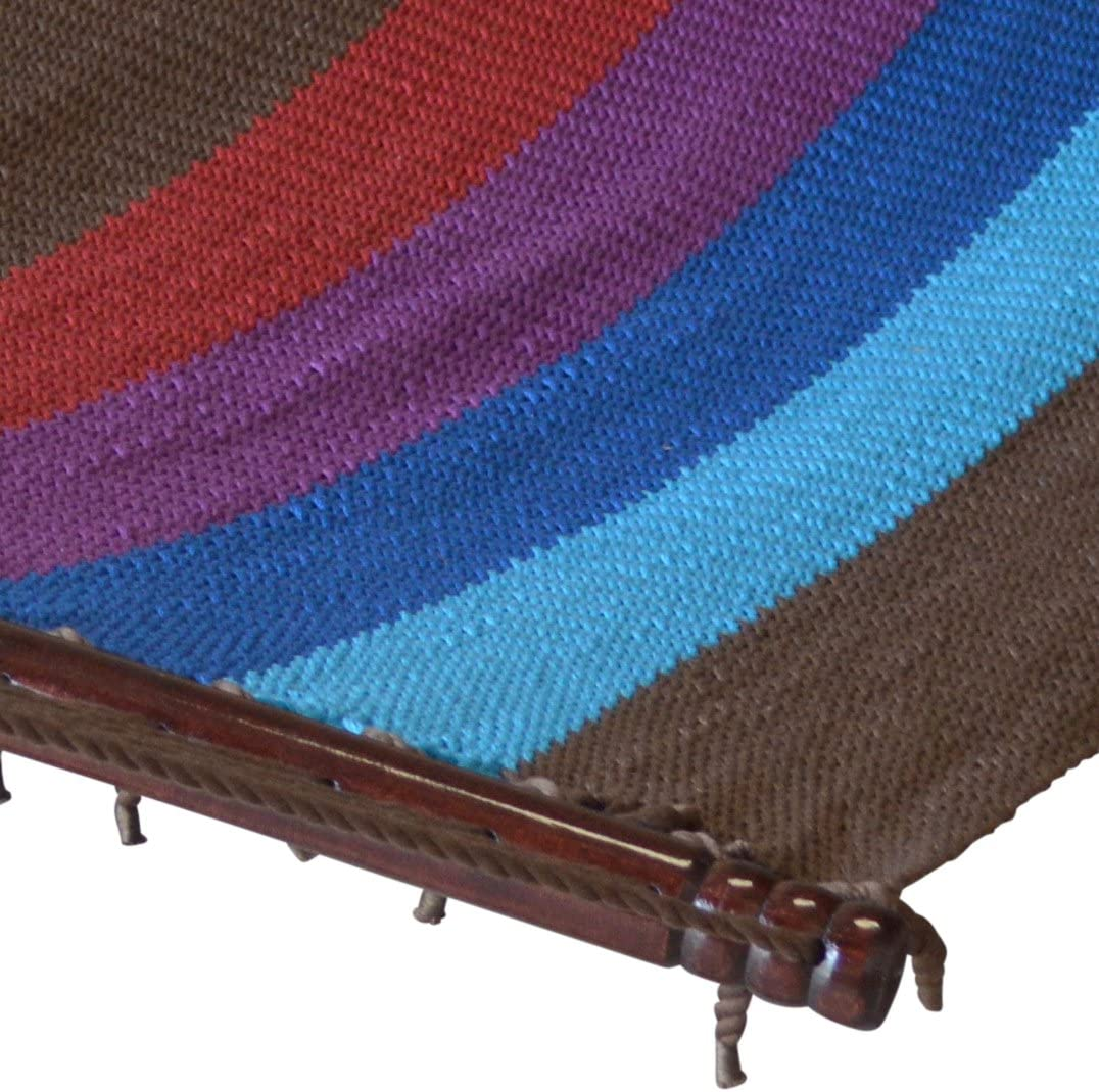 Caribbean Hammocks Jumbo Hammock and 15 ft Tribeam Stand - Multi Color Light Blue