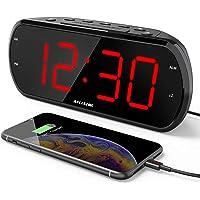 "ANJANK New 7"" Large LED Display Digital Alarm Clock Radio with 6 Level Dimmer,USB Charger,FM Radio with Sleep Timer…"