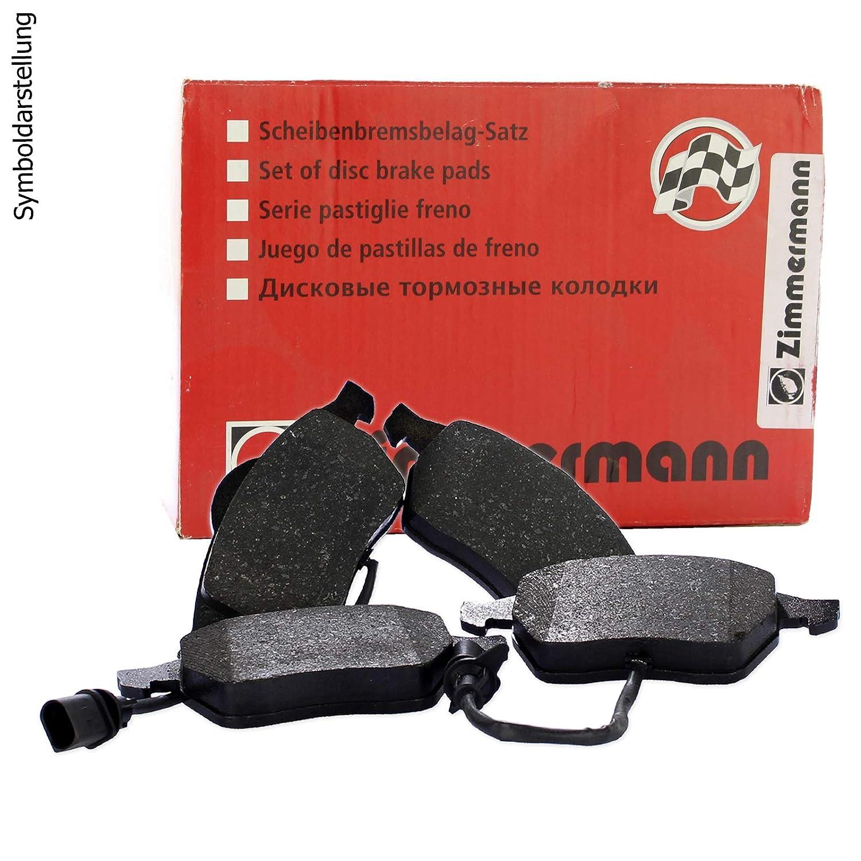 ZIMMERMANN Bremsbel/äge hinten Kl/ötze Bremse Bremsenkit Komplettset Hinterachse ZIMMERMANN Sport Coat Z gelochte Bremsscheiben