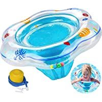 ADDCOOL Baby Float Swimming Ring with Safety Seat, Baby Double Airbags Floating PVC Inflatable Pool Bathtub Training…