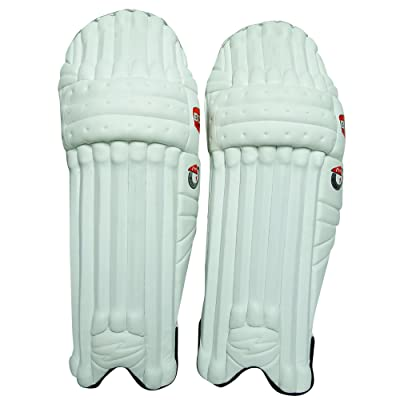 BDM Untamed Pro cuir PU Hommes Cricket Leg Right Guard Handed Blanc Batting Pads