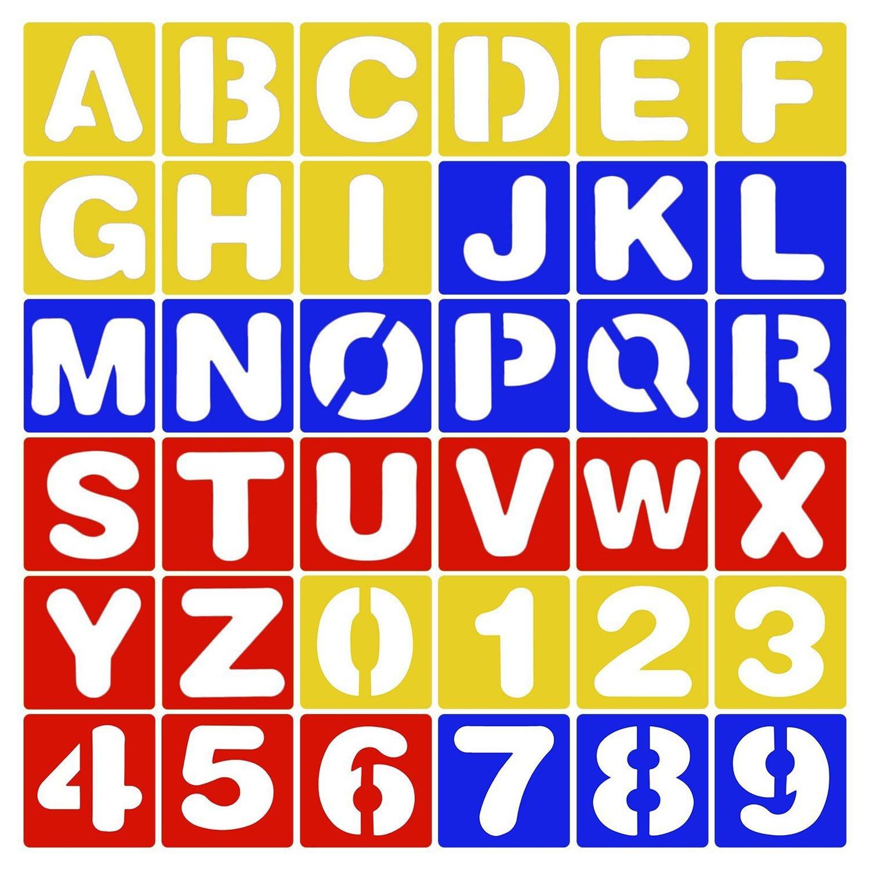 Stencil Alfabeto Lettere 26pcs + Insieme di Modelli di Plastica Stencil Numero 10pcs per la Pittura che Impara il DIY Scrapbooking Migavan