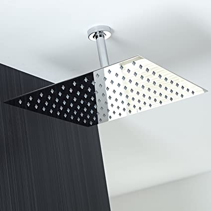Koko Brand Rain16 16 Inch Solid Square Ultra Thin Rain Shower Head