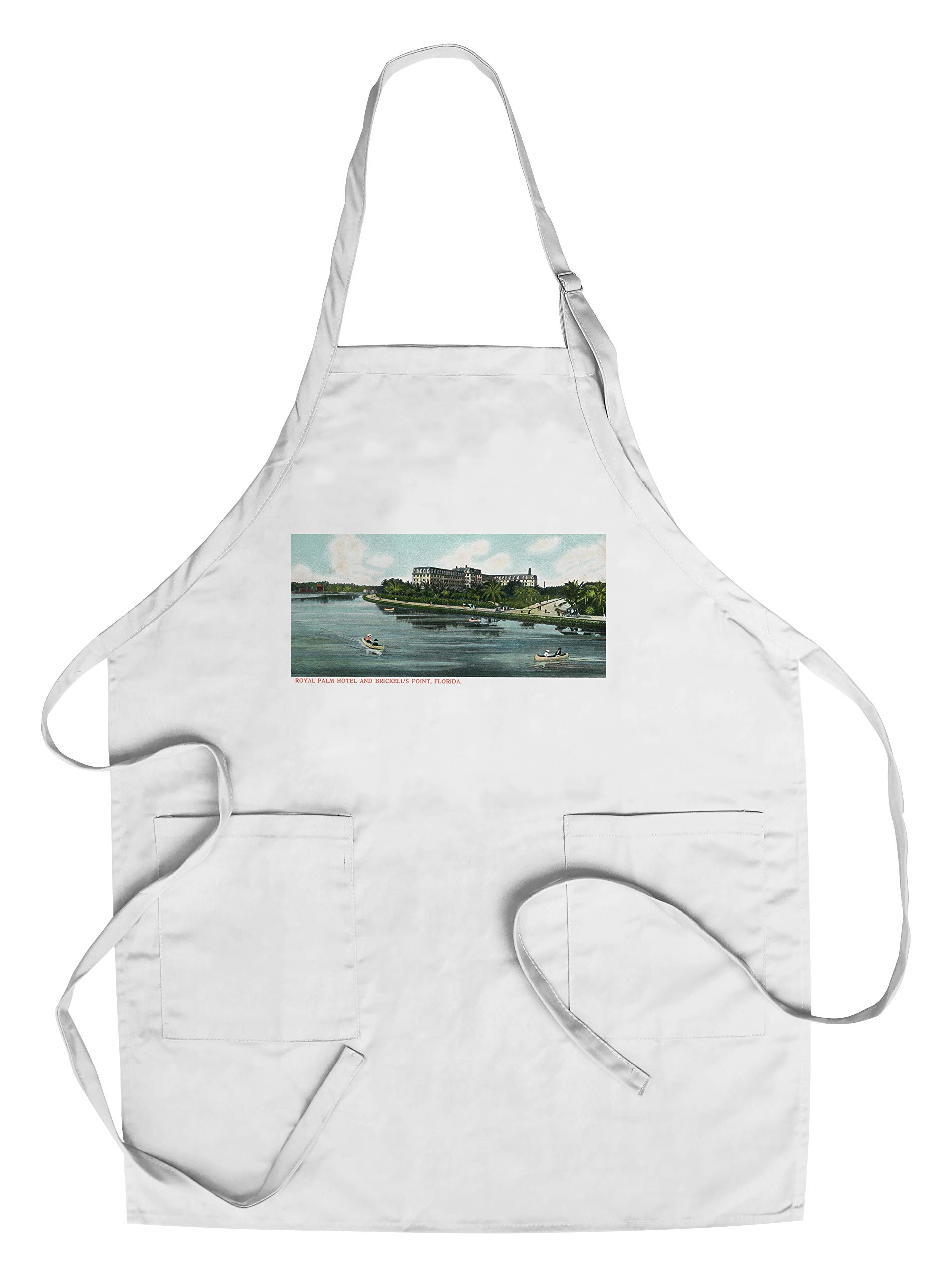 Miami, Florida - Brickell's Point; Royal Palm Hotel View (Cotton/Polyester Chef's Apron)