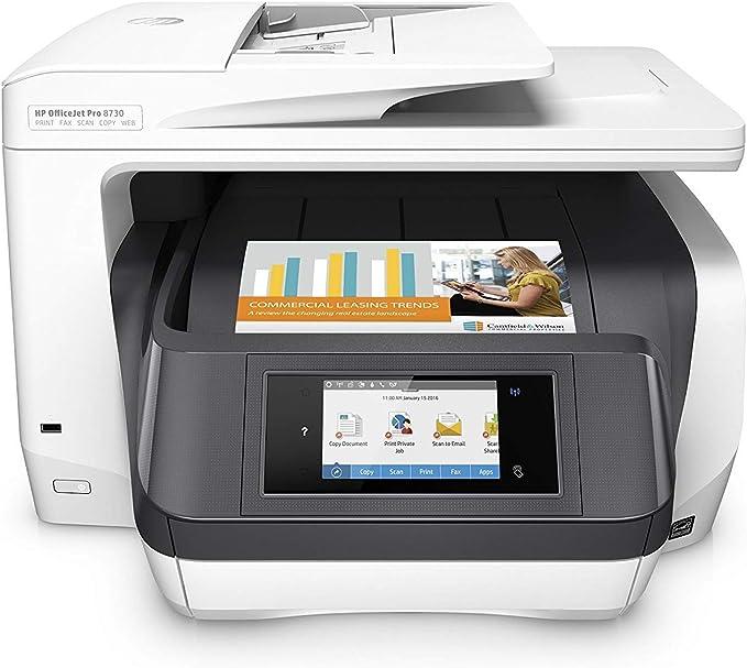HP OfficeJet Pro 8730 AiO - Impresora multifunción (Inyección de ...
