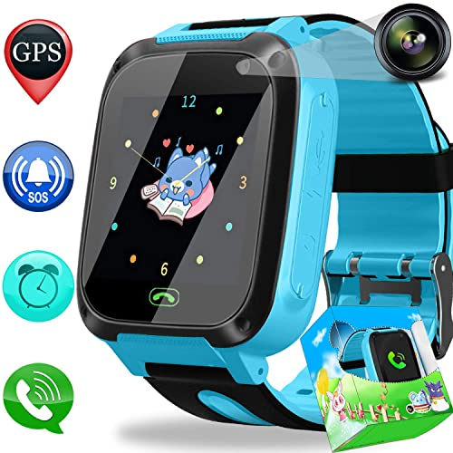 [SIM Card Included] Smart Watch Phone GPS Tracker for Kids Girls Boys with Cellphone