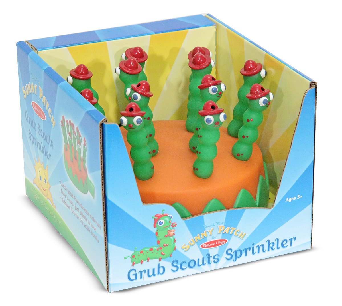 Melissa & Doug Sunny Patch Grub Scouts Sprinkler Toy With Hose Attachment