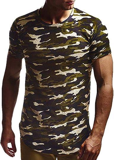 Camisetas Hombre Verano, Lunule Camisa Casual de Manga Corta