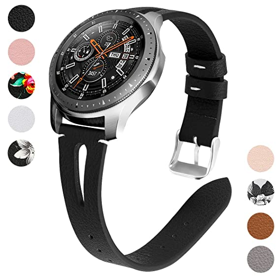 YSSNH Genuine Leather Quick Release 20mm 22mm Universal Watch Band, Replacement Strap for Samsung Galaxy Watch 42mm 46mm Active(40mm) Gear S3 S2 ...