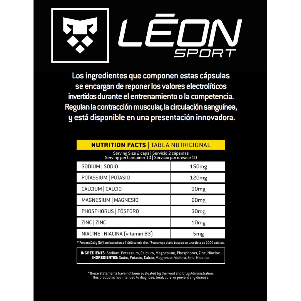 Amazon.com: LEON SPORT ANTICRAMP - Salt Tablets and Salt Pills for Runners and Cyclists - Electrolytes Tablets (30 Caps, Salt Capsules): Health & Personal ...