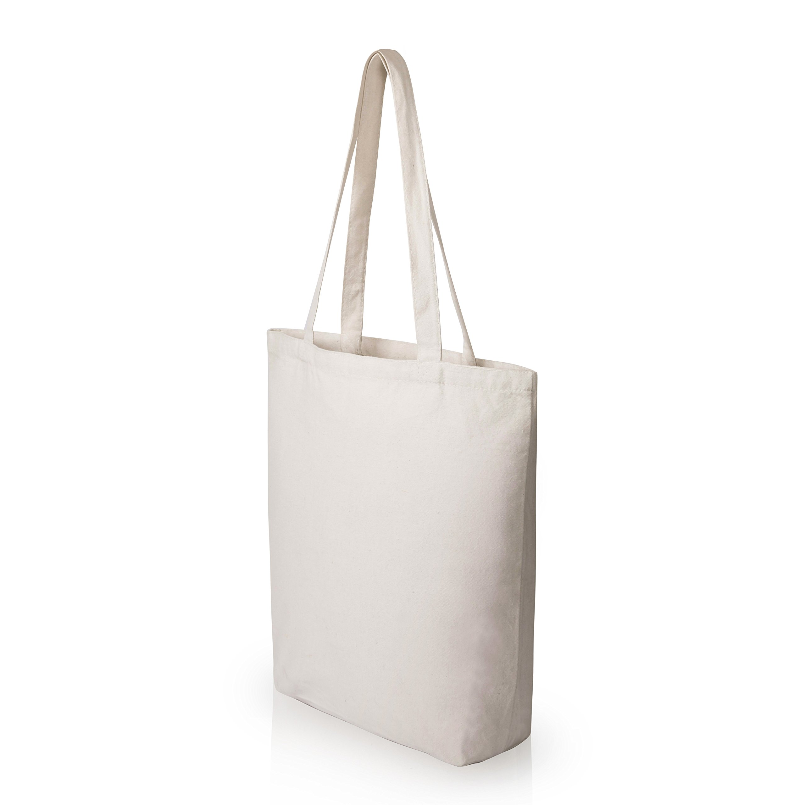 1a1d38919 Details about Heavy Duty and Strong Large Natural Canvas Tote Bags with Bottom  Gusset (25 Pack