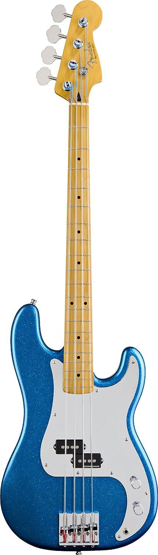 Fender Guitarra Eléctrica de precisión de Steve Harris, diapasón de madera de arce, cromo golpeador, color azul metálico: Amazon.es: Instrumentos musicales