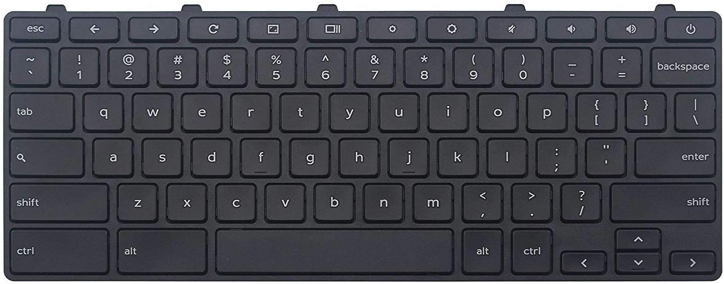 AUTENS Replacement US Keyboard for Dell Chromebook 3180 3189 3380 Laptop No Backlight