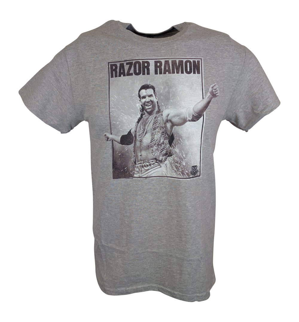 Razor Ramon Oozing Machismo WWE Mens T-shirt-5XL by WWE