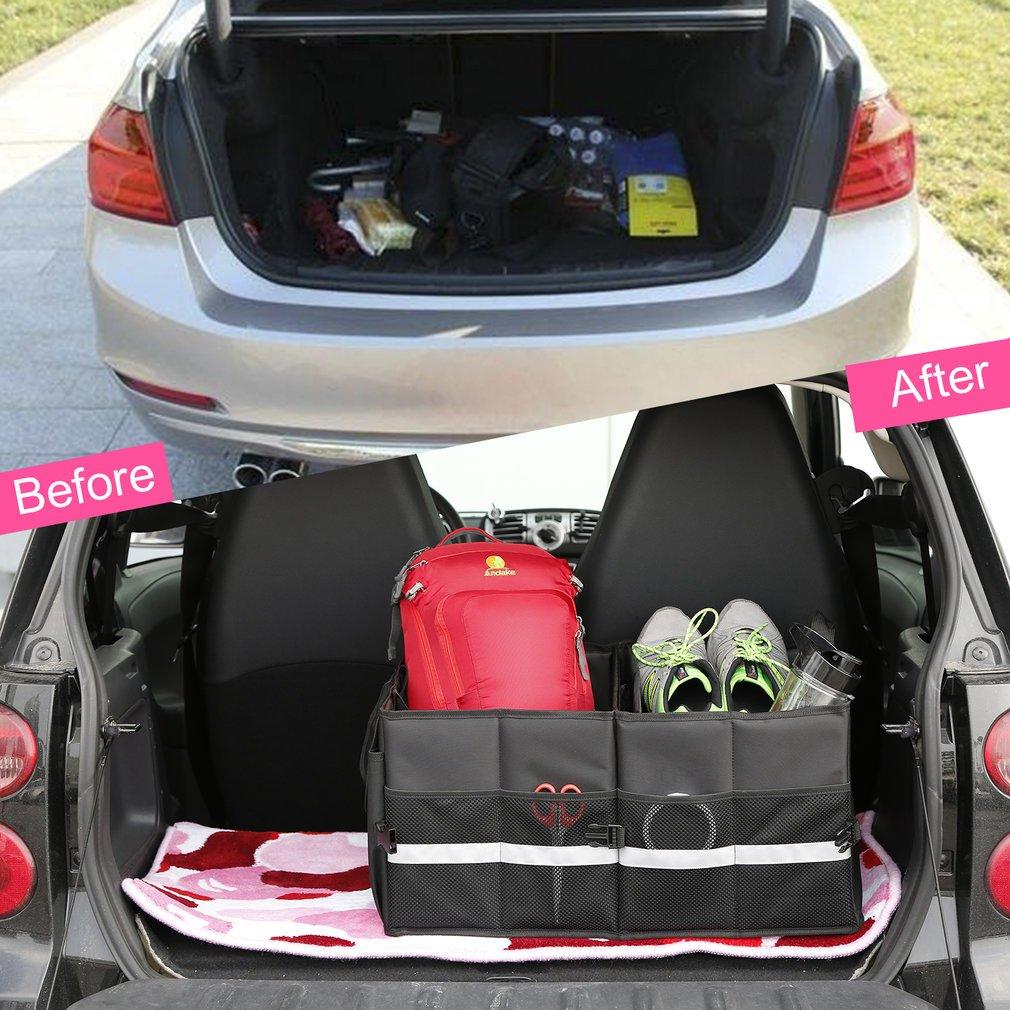 Auto Trunk Organizer, OUTAD Grande Capacité Boîte de Rangement Conception de Coffre Organisateur Pliables pour Tous Les Véhicules Automobiles
