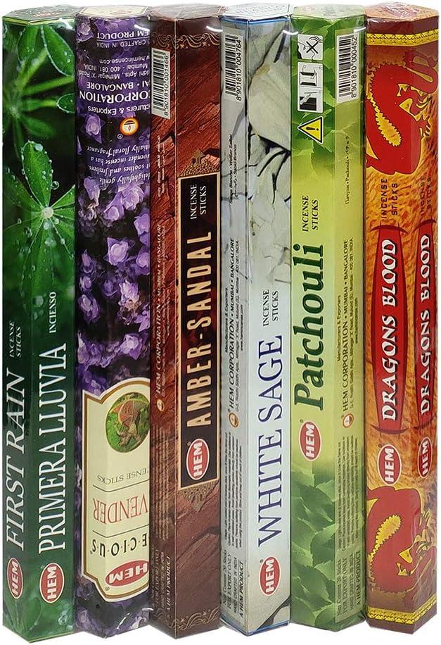 6 Hem Incense Variety Pack - Classics