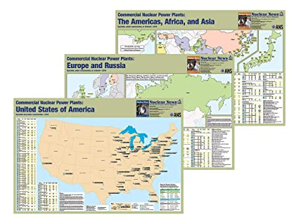Amazon.com: Nuclear News 3-Map Combo #1 of United States and ...