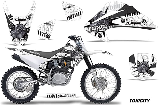 Toxicity Orange AMR Racing MX Dirt Bike Graphic Kit Sticker Decals Compatible with Honda CRF50 2004-2013