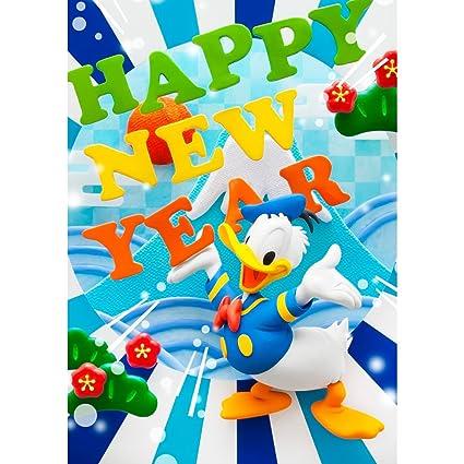disney donald duck happy new year 3d lenticular card