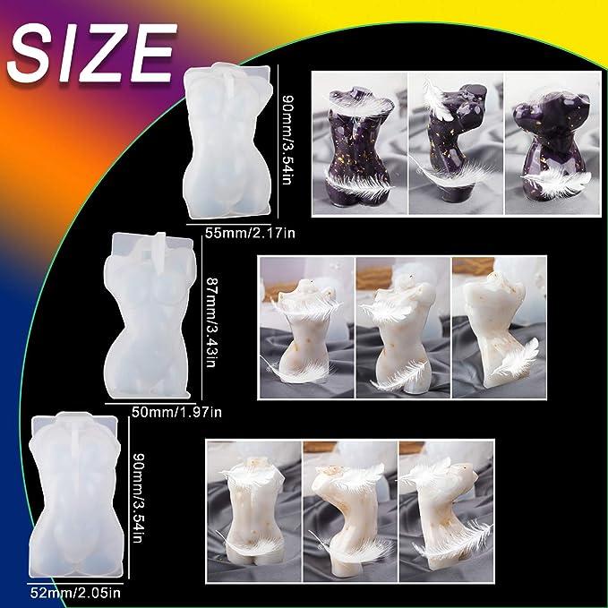 ZPZZPY Molde de silicona en forma de cuerpo de mu/ñeca////Herramienta/3D/para maniqu/í Hecho a mano DIY Chocolate Hornear Decoraci/ón Molde de arcilla Suministros