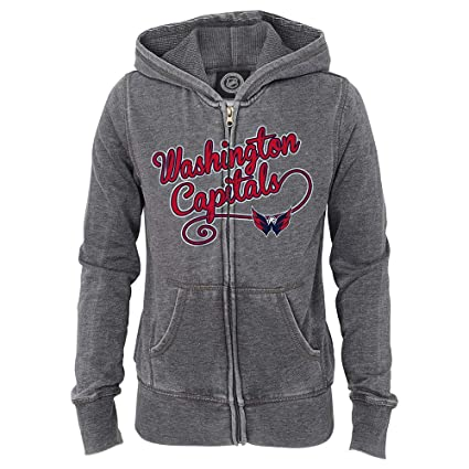 Image Unavailable. Image not available for. Color  Outerstuff Washington  Capitals NHL Girls  Grey Full Zip Fleece Hooded Jacket ... c94604457