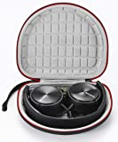 Hard Case for Sony MDRZX110NC/ZX300/ZX310/MDRZX110 ZX Series Stereo/MDRZX110AP Extra Bass Headphones Travel Carrying Storage Bag - Black