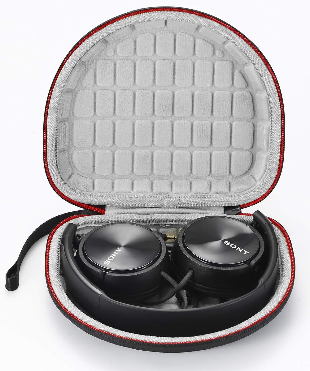Estuche rígido para Sony MDRZX110NC/ZX300/ZX310/MDRZX110 ZX Series Stereo/MDRZX110AP Extra Bass Headphones, Bolsa de Almacenamiento de Viaje Que Lleva ...