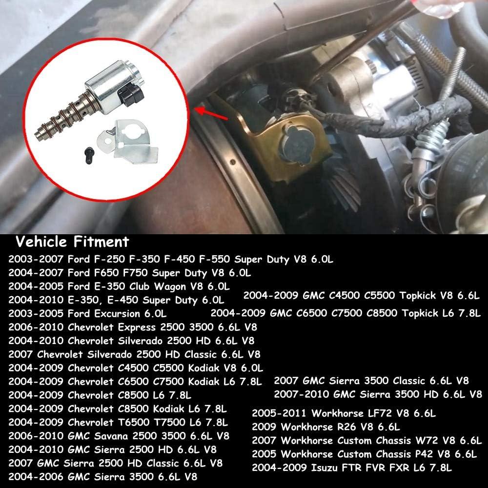 Part# 904-268 VGT Solenoid Actuator Valve Turbo Wastegate Controller For Ford F-250 F-350 F-450 F-550 E-350 E-450 Chevy Express Silverado GMC Sierra Sanava 3C3Z6F089AA