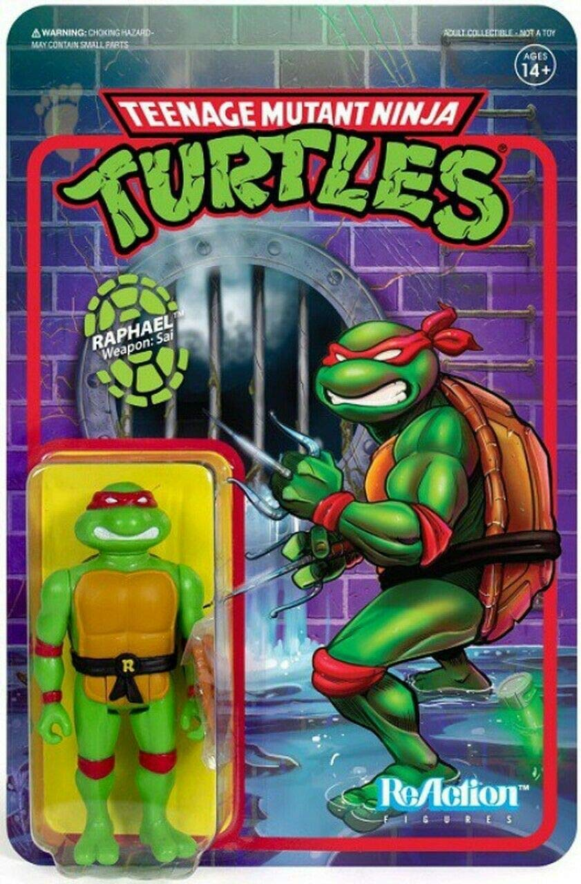 Super7 Raphael TMNT Teenage Mutant Ninja Turtles Reaction Action Figure