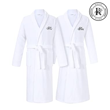 Romance Helpers His and Hers Terry Cotton Bath Spa Robes Gift Set