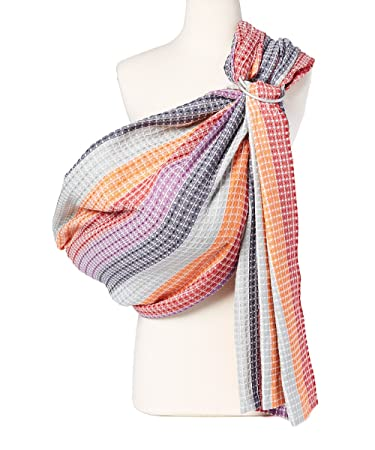 Hip Baby Wrap Ring Sling Baby Carrier For Infants And Toddlers Rainbow Honeycomb