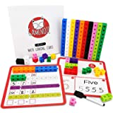 GAMENOTE Math Cubes Manipulatives with Activity Cards - Number Blocks Counting Toys Snap Linking Cube Math Counters for Kids