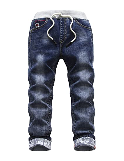 Amazon.com: Hollagee - Pantalones vaqueros para niños ...