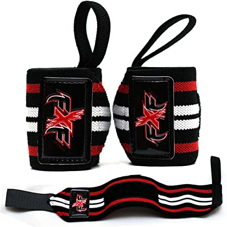 Professional Training Gym Straps Pair Powerlifting Bar-lifting Deadlifting FxF Pro Weight Lifting Padded Cross-fit Wrist Support Straps for Weightlifting